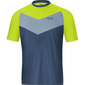 GORE WEAR C5 Trail Short Sleeve Jersey Men deep water blue/citrus green